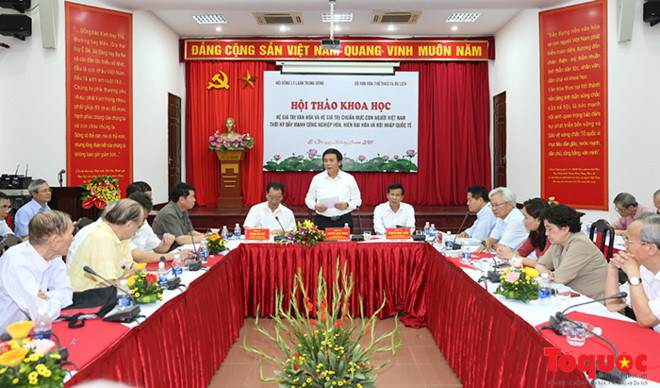 Tất yếu phải xây dựng hệ giá trị văn hóa, chuẩn mực con người Việt Nam